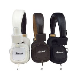 Auriculares bluetooth hi fi online-Marshall Major auriculares Con micrófono Deep Bass DJ Hi-Fi Headphone HiFi Headset Profesional DJ Monitor sobre la oreja los auriculares