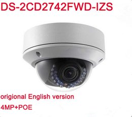 Wholesale Dome Sd Camera - English version Hik DS-2CD2742FWD-IZS 4MP IP Camera with WDR Vari-focal Motorized Lens Buit in SD Card Slot IR 30M Dome CCTV Camera