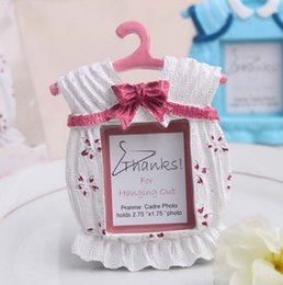Wholesale Baby Themed Frame - Cute Baby Themed Photo Frame Resin Clothes Mini Photo Frame Wedding Favor Baby Shower Gifts Pink and Blue+DHL Free Shipping