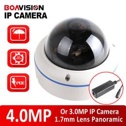 Wholesale Dome Camera Cctv - XMEYE 4MP IP Camera POE Outdoor Onvif Dome Fisheye Lens 2592*1520 CCTV Security Camera 360 Degree Panoramic View P2P Cloud