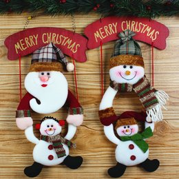 Wholesale Tree Pendant For Men - New Style Christmas Doll Hanging Snow Man Santa Claus Doll Decoration Xmas Tree Ornaments Pendant Hanging for Kids Party Gift