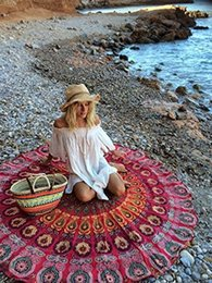 Wholesale Cover Baby - New Summer Indian Mandala Bedspread Tapestry Shawl Wall Hanging Bohemian Ethnic Throw Beauty Wall Decor Beach Towel Big Bed Cover Yoga Mat