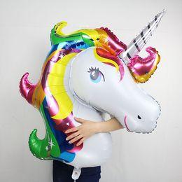 Wholesale Party Balloons Decoration Animal - 2017 rainbow unicorn balloons fashion cartoon animal helium float globos kids birthday party decoration ballons child love toys