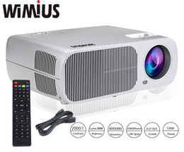 Wholesale 5inch Lcd - Wholesale-Wimius T1 Full HD 1080P 2600 Lumens LED Projector 5inch LCD Long LIfe Home Theater Beamer Video Proyector For XBOX TV Tablet DVD