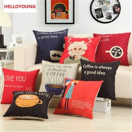 Wholesale Chair Inspired - BZ056 Luxury Cushion Cover Pillow Case Home Textiles supplies Lumbar Pillow Inspired coffee, Einstein, chair seat