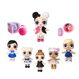 Wholesale Styles Baby Doll - Creative LOL Pop Anime Figures lol Surprise Dolls 7 Styles Princess Barbies Novelty Toys Birthday Gifts for Kids