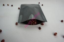Wholesale Laminated Bag Wholesale - 8*12cm 200PCS lot black aluminum plating plain bag, heat opening sealing mylar storage farina powder pouch, wheatmeal flat pocket