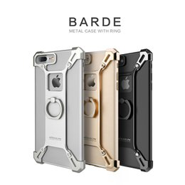 Wholesale Original Nillkin Case - Original NILLKIN Barde metal case with ring holder for Apple iPhone 7 Plus with retail package