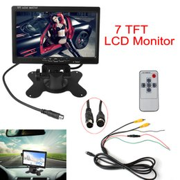 Wholesale Headrest Lcd - 7 Inch TFT LCD Color 2 Video Input Car RearView Headrest Monitor DVD VCR Monitor CMO_380