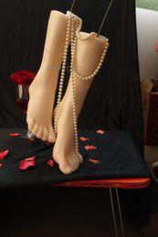 Wholesale Doll Feet Model - Silicone Fake Foot female Feet Model Move Freely ,Real skin sex dolls masturbation full silicone life size fake feet modell