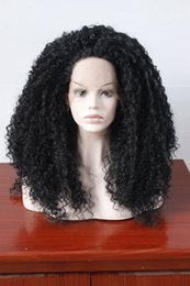 Wholesale 28 Inch Lace Front Wig - Curly Wigs For Women Glueless Black Lace Front Wig Synthetic With Baby Hair Heat Resistant Fiber Hair Half Hand Tied 24 inches