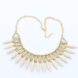 Wholesale ethnic shorts - Woman Chokers Necklaces New Bohemia Turquoise Diamond Choker Fashion Short Jewelry Necklace High Quality Ethnic Style