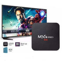 Wholesale Mx2 Box - Hot MX2 MXQ PRO Quad Core Android TV BOX With Customized KD 17.1 TV Box Fully Loaded 4K Media Player