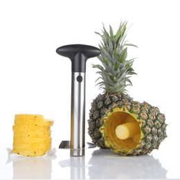 Wholesale Metal Slicer - Fashion Hot Novelty Home holds stainless steel Fruit Pineapple Corer Slicer Peeler Cutter Parer Knife DHL Fedex UPS Free Shipping 20170227