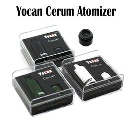 Batería de repuesto online-Original Yocan Cerum Atomizador Cerámica completa Vaporizador repuesto Cuarzo Dual QDC Coil Fit 1100mAh Yocan Evolve Plus Batería Yocan Cerum Coils