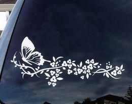 """Decalques em vinil macbook on-line-Flor e Borboleta, bela natureza Decalque Adesivos de Carro Janela Do Caminhão engraçado laptop macbook Vinil 6 """""""