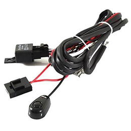 Wholesale Relay Wire Harness - New Universal Relay Harness Wire Kit + LED ON OFF Switch For Fog Lights HID Worklamp