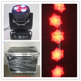 Wholesale Beam Decorations - 4Xlot flight case stage decoration lighting mini B-EYE beam moving light rgbw 4in1 led dmx 7x15w moving head zoom