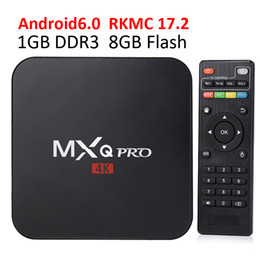 Wholesale Quad Core 1gb - Rockchip MXQ Pro Android TV Boxes 2018 Genuine Quad-core Smart Boxes with RKMC 17.2 fully loaded tv box