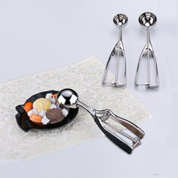 Wholesale Steel Ice Cream Scoop Spoon - Ice Cream Spoon Stainless Steel Haagen Dazs Ices Creams Scoop Popsicle Spoons Watermelon Scoops Melon Baller Factory Direct 4 4am3 C R