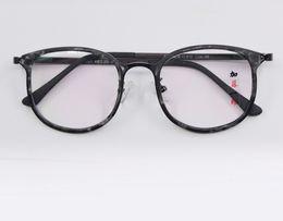 Wholesale Korean Spectacle Frames - Korean Style Eyeglasses Frame Men Women Light Myopia Frames Tr Plain Metal Leg Wholesale Customizable Spectacle Frame
