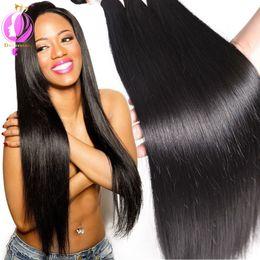 Wholesale lasting hair color - Mixed Length Brazilian Straight Hair 4 Bundles Pure Color 100% Unprocessed Peruvian Straight Human Hair Bundles Can Last Long