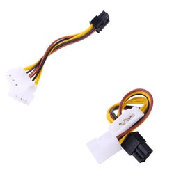 Wholesale Molex Female Connector - Factory 2 IDE Dual 4pin Molex IDE Male to 6 Pin Female PCI-E Y Molex IDE Power Cable Adapter Connector for video cards