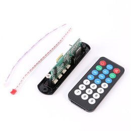 Wholesale Usb Bluetooth Module - Wholesale- DC 12V Micro USB Power Supply TF Radio MP3 Decoder Board Bluetooth 12V Audio Module for Car Remote Music Speaker 2803ZZ