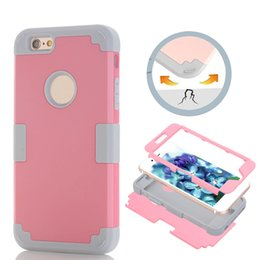Wholesale Defender Phone Cases - Defender Hard Phone Case For iphone 5s 6 6s 7 plus Hybrid PC Silicone Shockproof Cover for Samsung Galaxy Note 5 note 7 s7 s8