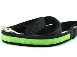 Wholesale Lighted Rope Dog Leash - Pets Dog Safety Collar 8 Colors LED Leash Rope Belt Flashing Harness Lead Light Black Nylon