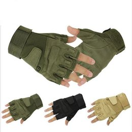 Wholesale Army Airsoft - Blackhawk Hell Storm Tactical Gloves Army Combat Airsoft Shooting Bicycle Fingerless Gloves Paintball Half Finger Gloves