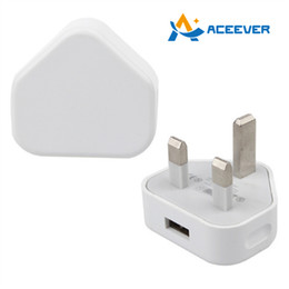 Wholesale Iphone Usb Charger Pin - UK 3 Pin Wall Charger Travel Charger Adapter 5V 1A USB Universal for iPhone Samsung HTC Nokia