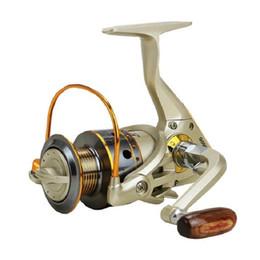 2019 señuelos giratorios Hlq Metal Superior Spinning Fishing Reel Ratio 5.5: 1 Equipo de pesca Rueda Señuelo Molinete Molinete Molinete Envío gratis rebajas señuelos giratorios