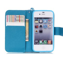 Wholesale I 4s - Case for Apple iPhone 4 4S Luxury Wallet Stand Card Slot Flip Phone Leather Case for Apple i Phone 4 4S iPhone4 iPhone4S Phone Bags