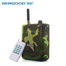 Wholesale Remote Control Birds - Wholesale Electronic bird Caller hunting Remote Control Hunting Decoy Speaker Remote Control 1500M with 900 Animal Voices TF card FM Radio