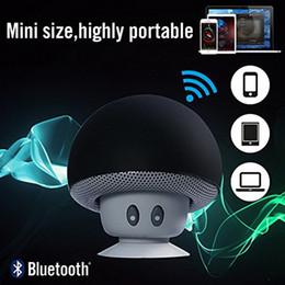 Wholesale Subwoofer Speaker Portable Mini - Mushroom Mini Wireless Bluetooth Speaker Hands Free Sucker Cup Audio Receiver Music Stereo Subwoofer USB For Android IOS PC for s7 edge
