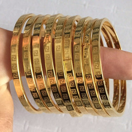 Wholesale Linked Charm Bracelets For Sale - Hot Sale Luxury Ladies Brand Gold Plated Filled Charm Bracelets Bangles For Women 2017 New High Quality Ms.Charm 4MM 6MM 8MM