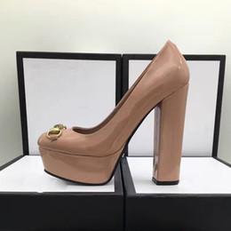 Ol sapatas on-line-2017 novo estilo grande tamanho 35 ~ 41 moda couro genuíno ol bombas senhora sapatos de salto alto de qualidade superior sapatos de festa / casamento sexy sapatos de saltos 14 cm