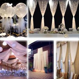 weiße blumen-mittelstücke für hochzeiten Rabatt Weiße Tüllschraube 54 Zoll x 40 Yard (120 ft) Hochzeiten Party Tutu Stoff Nylon Pew Handwerk drapieren Hochzeit