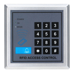Wholesale rfid security - Wholesale- Electronic RFID Proximity Entry Door Lock Access Control System with 10 Key Fobs Home Offices Security System