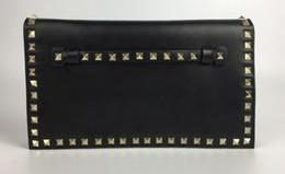 Wholesale Camera Bag Small Leather - 2017 new fashion handbag shoulder bag lady bag Golden rivet Dating Date black Valentine's Day bags Camera bag