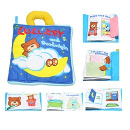 Wholesale Soft Cloth Books For Infants - Wholesale- Cute Bear Soft Cloth English 3D Flower Books Infant Lullaby Good Night Baby Boys Girls Early Educational Toys For Toddlers