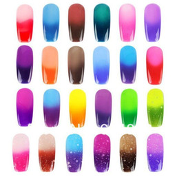 Wholesale Coloured Uv Gels For Nails - 12 pcs good quality Nail Polish Soak Off Nail Gel For Salon UV Gel 24 colours free shipping