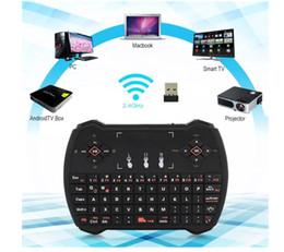 2019 clavier pour apple tv Rétro-éclairé / Non Backit 2.4GHz Sans Fil Clavier V6 Fly Air Souris Multi-Media Touchpad Souris Télécommande Portable pour Android tv box