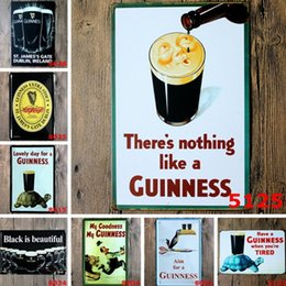 Wholesale Vintage Guinness - Bar Metal Paint Black Beer My Guinness Vintage Tin Signs Retro Metal Sign Antique Imitation Iron Plate Painting Decor Wall Bar Cafe Pub