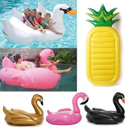 Wholesale Swimming Pools Inflatables - In stock Pool Float Giant Inflatable flamingo Unicorn Pegasus Water Swimming Swim Ring Pool Toy for swimming inflatable pool toys