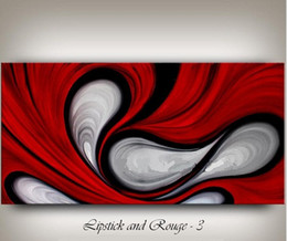 Wholesale Large Contemporary Abstract Art - Framed LARGE Red Abstract painting,Hand Painted CONTEMPORARY home decor ART Oil Painting On Quality canvas Free Shipping,Multi sizes Ab069