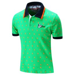 Wholesale united tees - Short Sleeve T-shirts Men's Clothes Embroider Polos Collar Tees Fashion Casual Spring Summer Shirts Europe and United States Size Tops