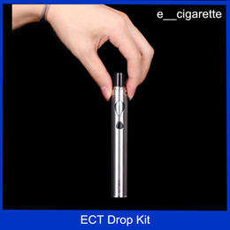 Wholesale Electronic Ecigarette Kit - ECT Drop Kit electronic cigarettes vape mod starter Kits 2200mah 40w all-in-one style atomizer 2.0ml ecigarette
