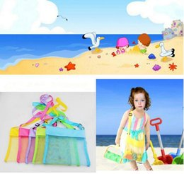 Wholesale Sand Buggies - lKids Beach Mesh Bags Sand Water Away Tote Pouch Handbag Buggy Storage Bag Mesh Shell Beach Bags Sandpit Beach Receive Bag 24 Colors OOA1478